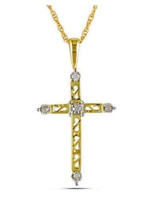 14K Yellow Gold Cross Diamond Pendant-1212-crJemond4.jpg