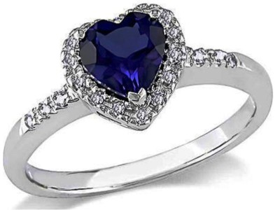 Blue Sapphire and Diamond 10kt White Gold Ring-1207-blJering4.jpg
