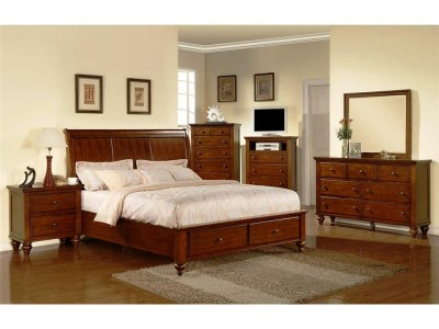 Classic Brown Queen Platform Storage Bedroom Group-1329-CHFu60HT.jpg