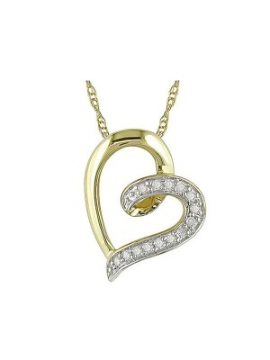 Diamond Accent 10kt Yellow Gold Heart Pendant-1211-MiJeella4.jpg