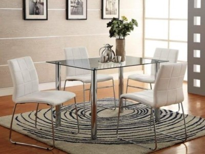 Modern Glass Dinette With White Chairs-1498-12FuS-WH.jpg