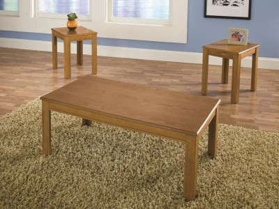 coffee table set - oak